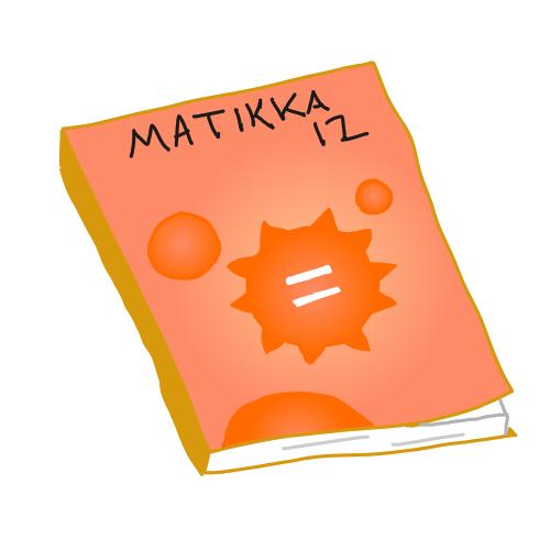 Kuvitteellinen matikankirja, jonka kannessa Wolfram Alphan logo.