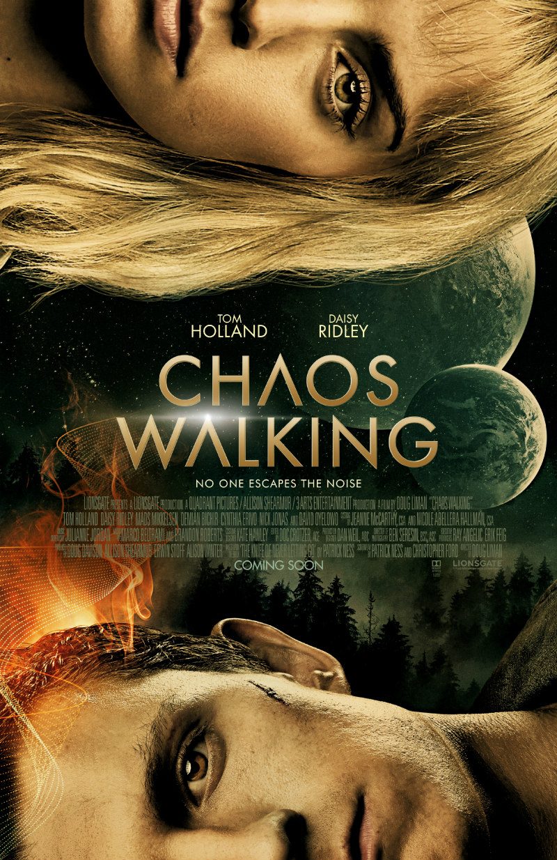 chaos walking Daisy Ridley Tom Holland poster