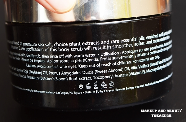 Forever Flawless Brilliance Body Scrub Review