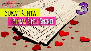 3 Contoh Surat Cinta Bahasa Sunda Untuk Pacar, Singkat & Pendek