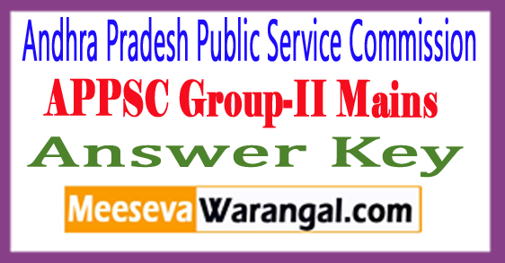 APPSC Group-II Mains Answer Key 2017