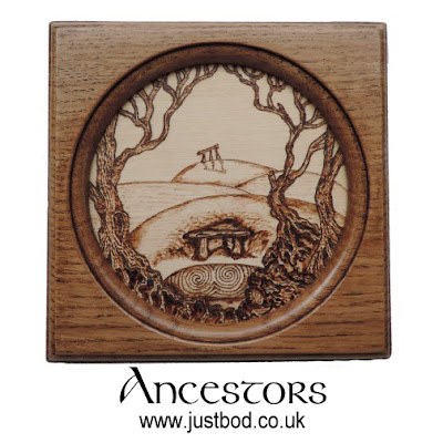 Ancestors hand burnt wall plaque