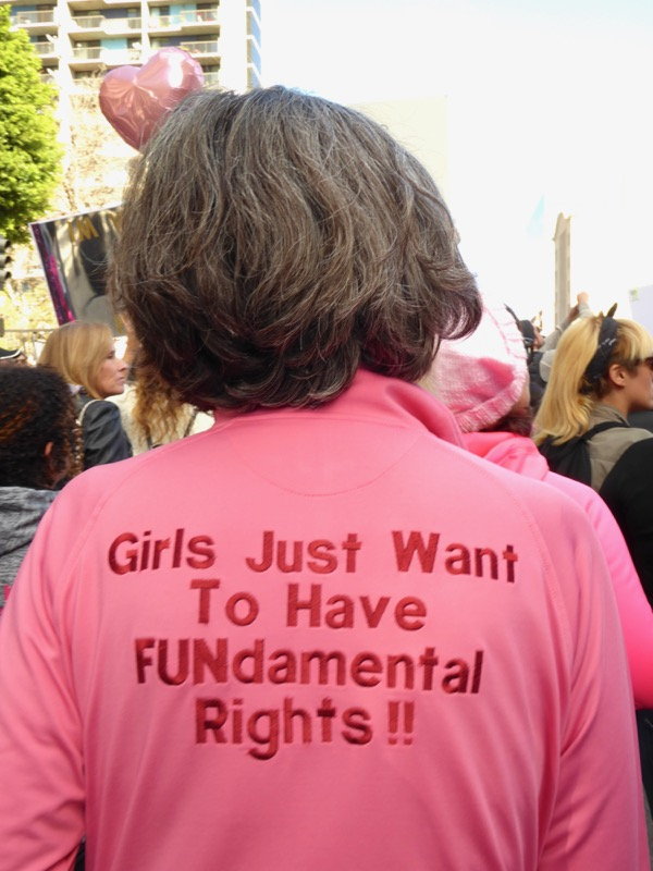 Womens March LA Girls just want to have FUNdamental rights