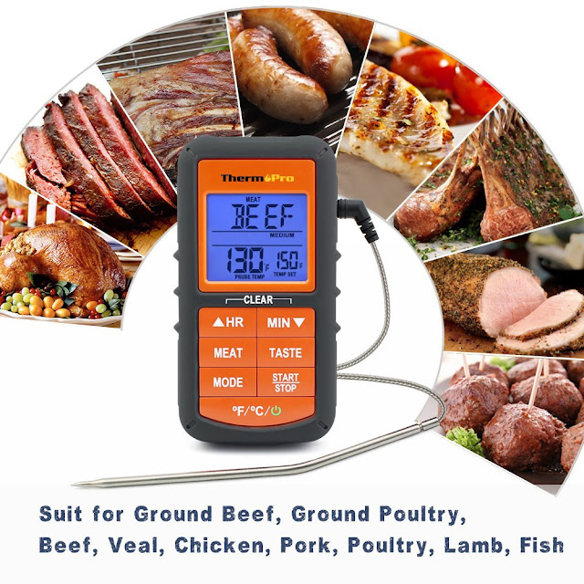 thermopro meat food cooking oven bbq thermometer