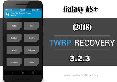 TWRP Recovery for Galaxy A8 Plus 2018