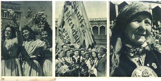 19-21 июля 1948 год. Рига. Парк Коммунаров (Эспланада). Первый Праздник песни и танца (X по общему счету) в ЛССР после восстановления Советской власти (из буклета 1949 года)