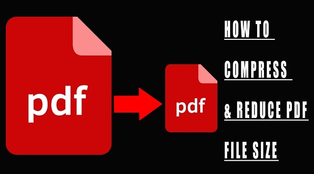 how to compress pdf file size compression save space
