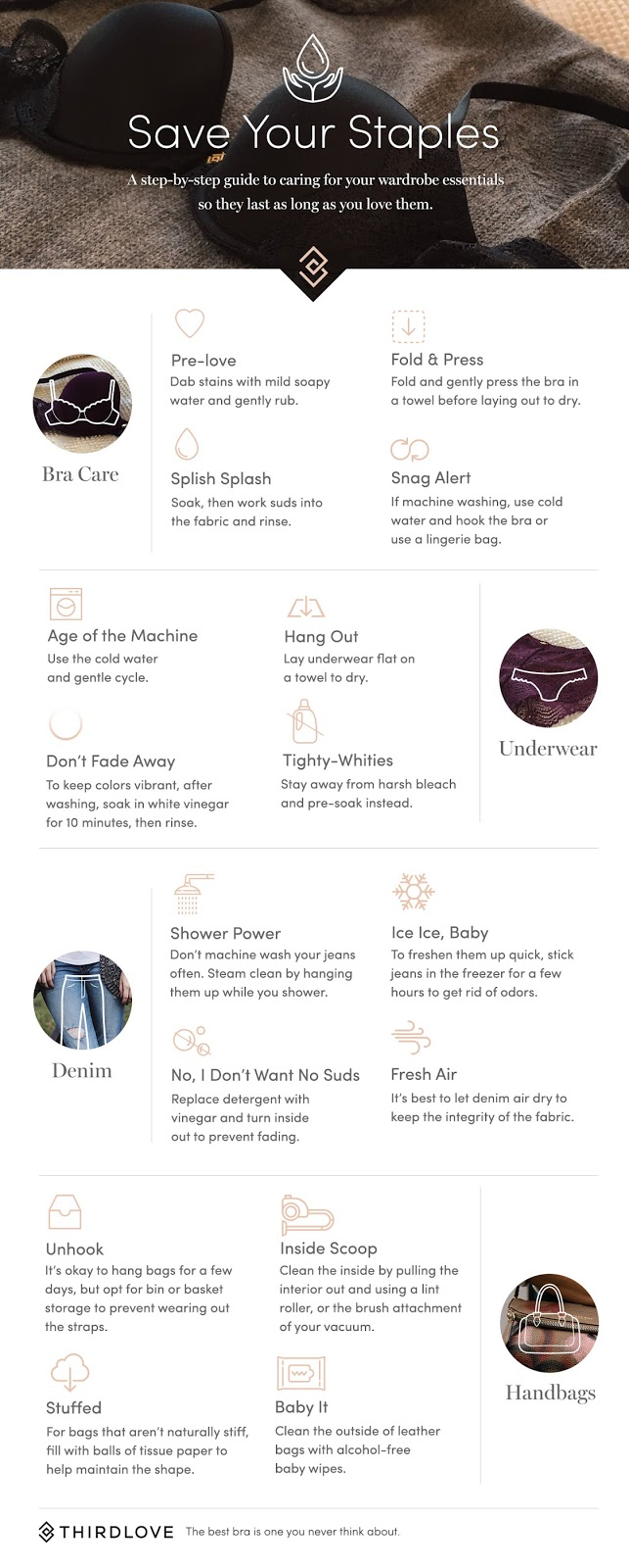A step-by-step guide to caring for your wardrobe essentials so they last as long as you love them