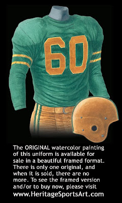 Green Bay Packers 1952 uniform