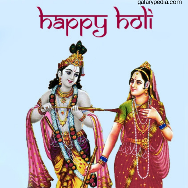 Happy Holi images with Radha Krishna download