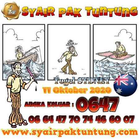 Syair Pak Tuntung Sydney Minggu 11 Oktober 2020