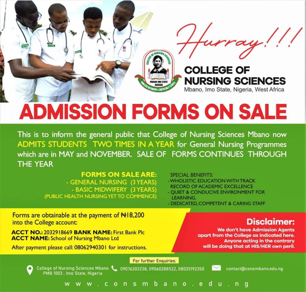 Mbano School of Nursing Form