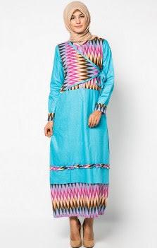 Model gamis batik kombinasi modern remaja