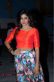 Sushma Raj in Tight Orange crop top and long skirt at Eedu Gold Ehe Gummadikaya Function