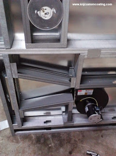 powder coating oven convection duct