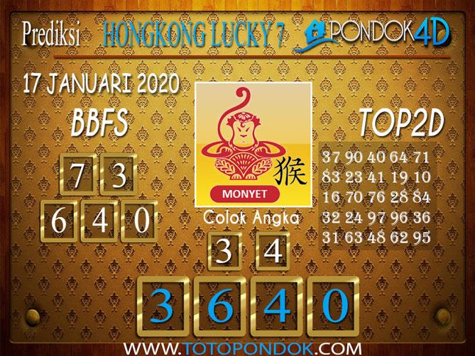 Prediksi Togel HONGKONG LUCKY7 PONDOK4D 17 JANUARI 2020