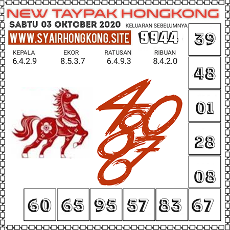 Prediksi Togel New Taypak Hongkong Sabtu 03 Oktober 2020