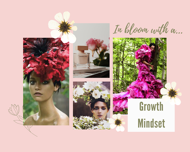 Growth mindset fashionable collage with Garden of Delights from Vogue