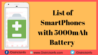 Smart Phones with 5000 mAh Battery