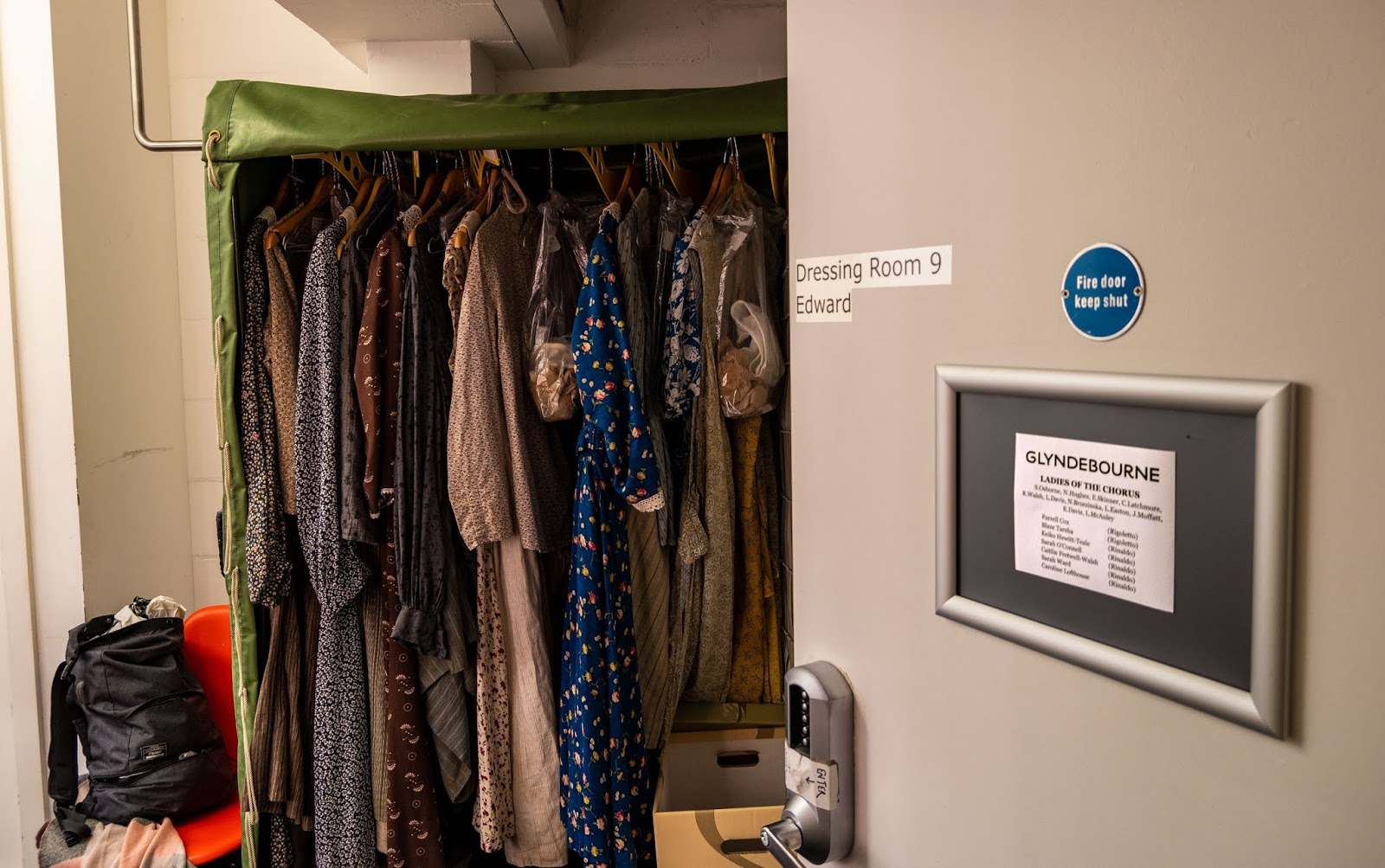 1940s costumes for Glyndebourne's L'elisir d'amore at the Marlowe Theatre, Canterbury