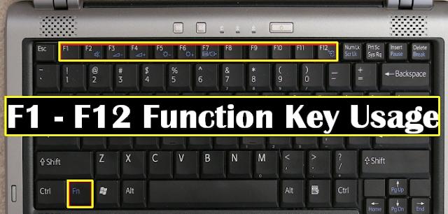 किस काम आती है F1 से F12 तक की Function Keys