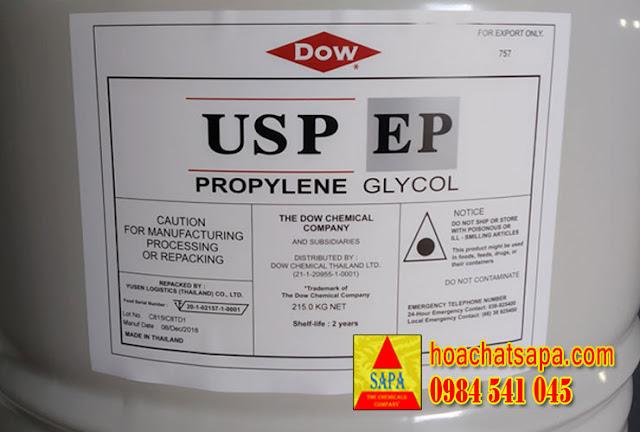 Dung môi Propylene Glycol USP/EP (PG DƯỢC)