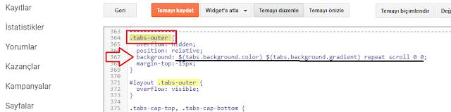 Background kodu düzenleme