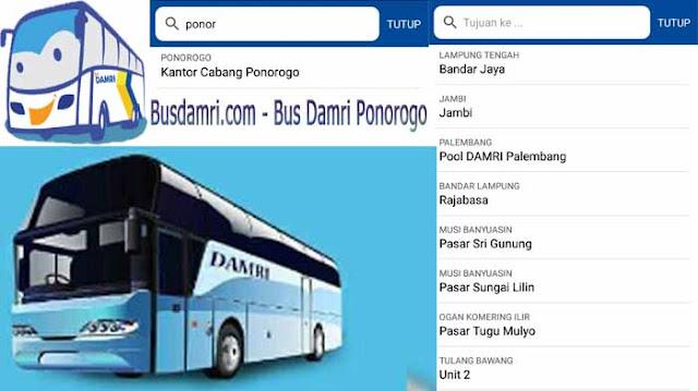 Bus Damri Ponorogo, Ini Rute Perjalanan ke Berbagai Daerah