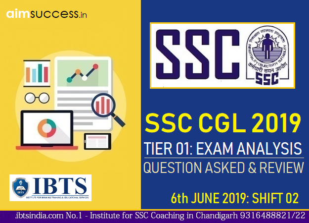 SSC CGL Tier 1 Exam Analysis : 6th June 2019 2nd Shift