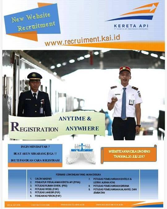 Lowongan Kerja PT. Kereta Api Indonesia untuk 9 Posisi
