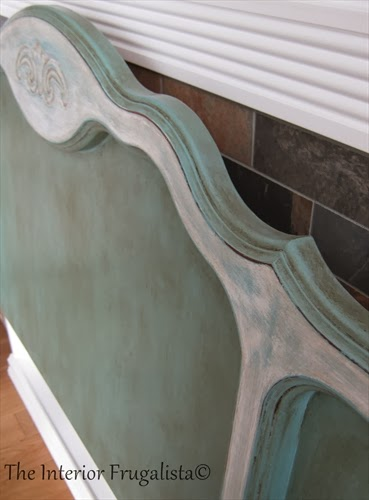 Queen Anne Headboard Makeover Close Up Picture