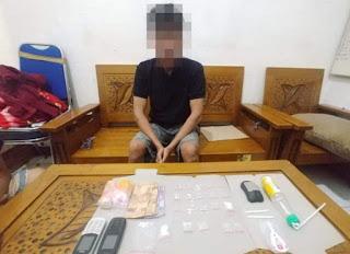 Satres Narkoba Polres Ketapang Tangkap SOL Pengedar Narkoba, 9.8 Gram Sabu