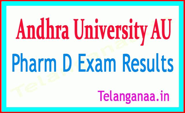 Andhra University Pharm D Exam Results