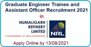 Numaligarh Refinery Trainee Engineer Officer Recruitment 2021