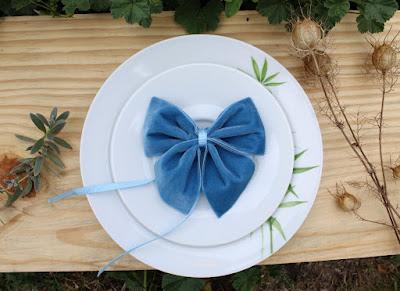 velvet bow napkin rings