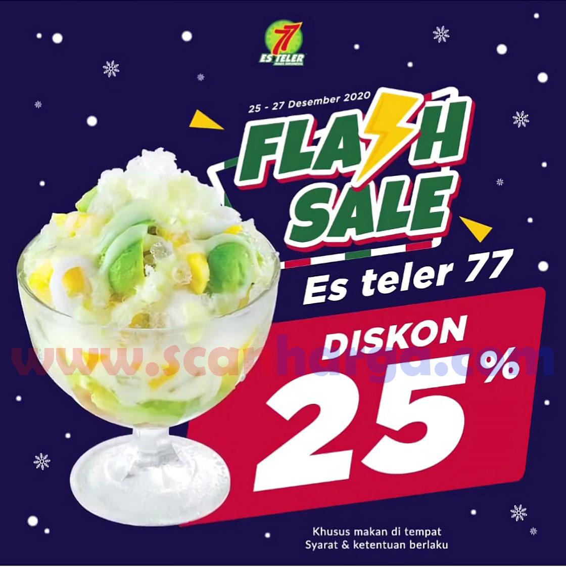 ES TELLER 77 Promo FLASH SALE – Diskon 25% untuk pembelian Es Teler