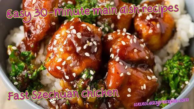 30-Minute Main Dish - Fast Szechuan chicken