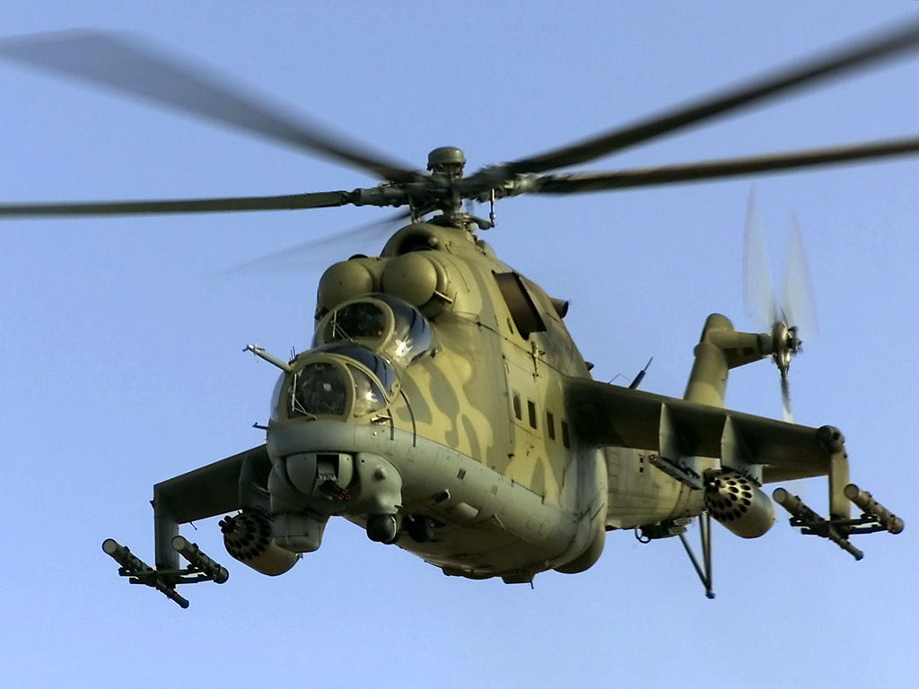 MI 24 - Russian Attack Helicopter ~ SKY BEAUTIES