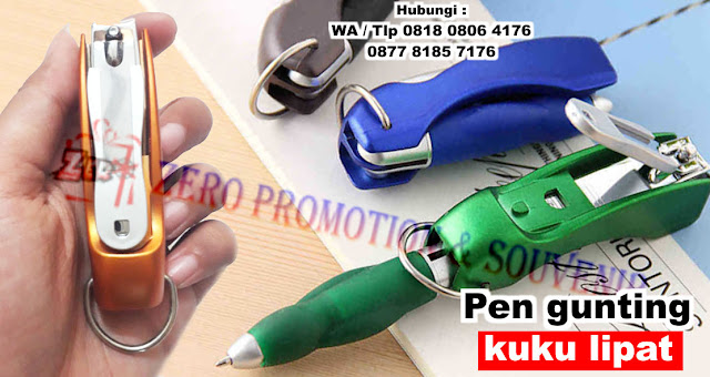 Pulpen Gunting Kuku Lipat, Gantungan kunci lipat pulpen, gunting kuku hadiah bisnis logo kustom, Pen Plastik Gunting Kuku Lipat, Pen Promosi lipat gunting kuku