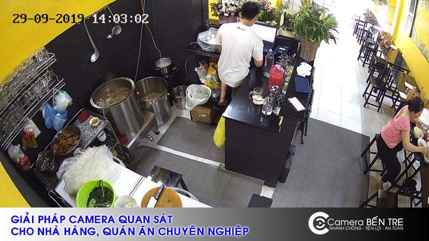 Hỉnh ảnh thực thế từ hệ thống camera cho nhà hàng quán ăn mà chúng tôi thực hiện