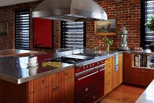 Inspirasi Terkini 54 Dapur Minimalis Bata Merah