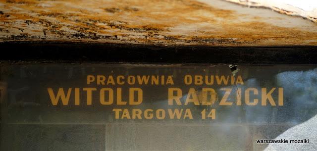 Warszawa szyld szyldy warszawskie retro pracownia obuwia witold radzicki