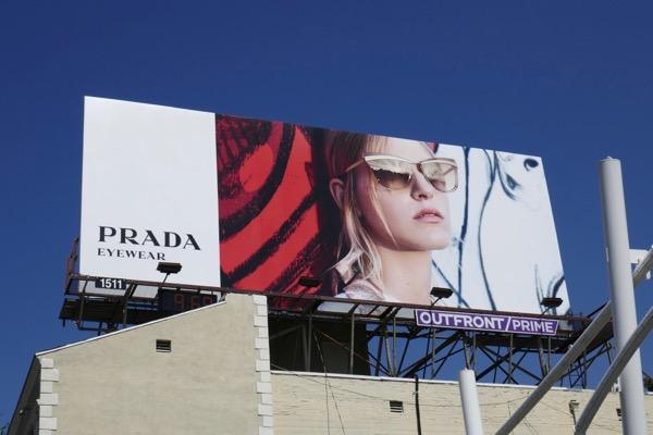 Prada eyewear Spring 2018 billboard