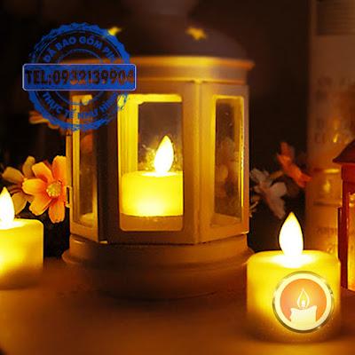Đèn nến tealight điện tử ngọn đèn tự lắc