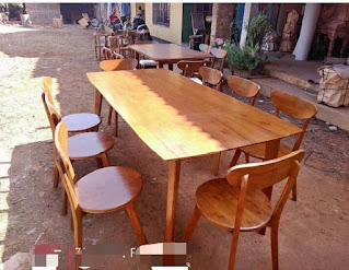 meja makan minimalis 8 kursi kayu jati mewah murah elegan