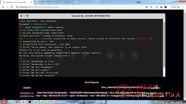 File Deface Jokam Informatika Style Apple MacOS Terminal - JOKAM INFORMATIKA