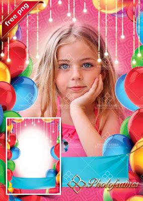 Hermoso marco de fotos cumpleaños gratis