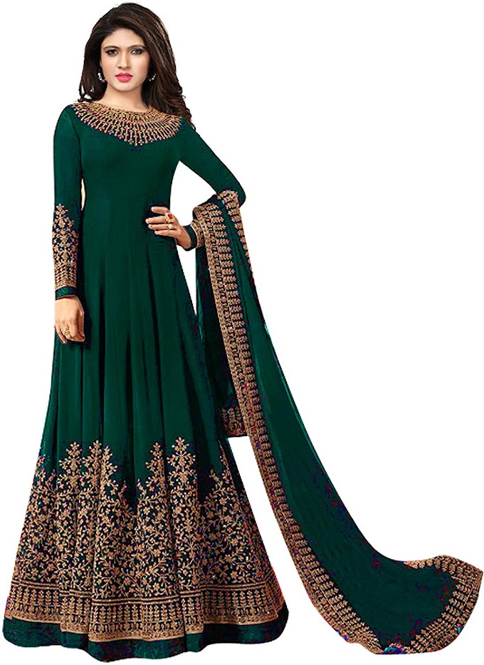 Royal Export Women's Georgette Long Gown Dress Material