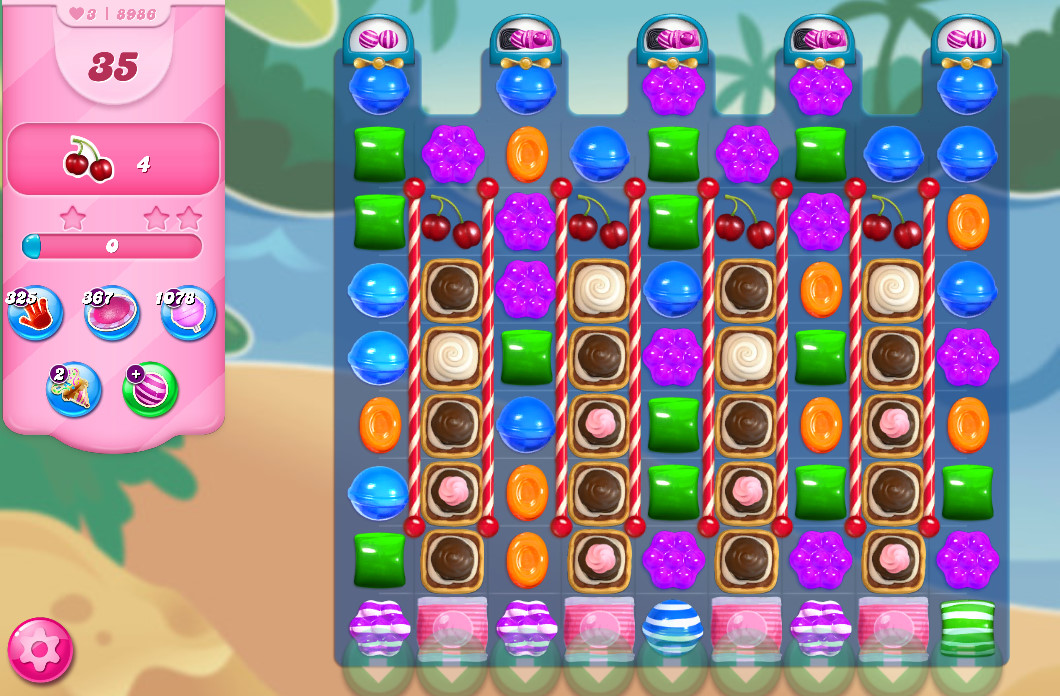 Candy Crush Saga level 8986