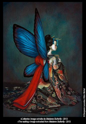 Benjamin Lacombe ilustración Madame Butterfly